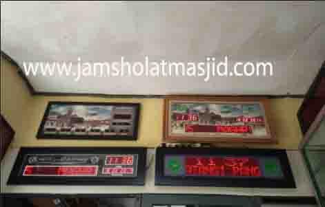 jual jam jadwal sholat digital masjid murah di cikampek utara