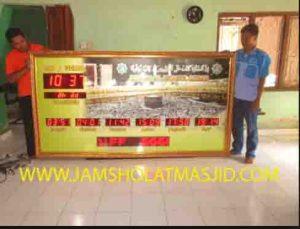 jual jam jadwal sholat digital masjid murah di karawang timur