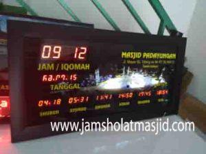 jual jam jadwal sholat digital masjid murah di jakarta utara terbaik