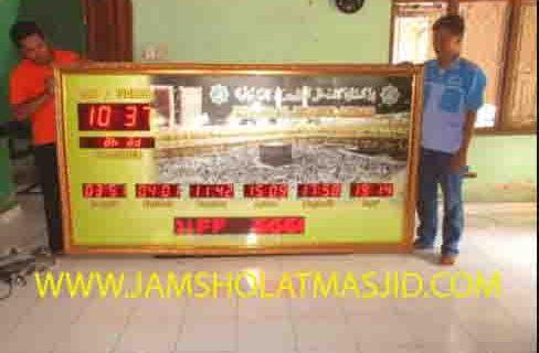 jual jam jadwal sholat digital masjid running text di gambir jakarta
