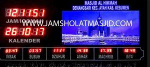 jual jam jadwal sholat digital masjid running text di jembatan besi Jakarta