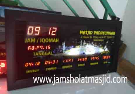 jual jam jadwal sholat digital masjid running text di pancoran jakarta