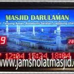 jual jam jadwal sholat digital masjid running text di singaraja