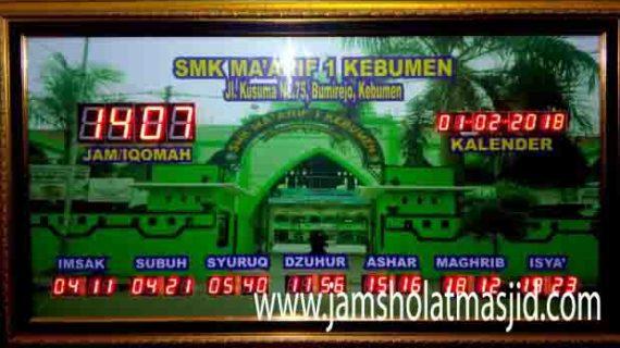 jual jam jadwal sholat digital masjid running text termahal