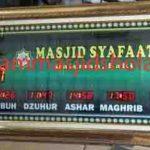 penjual jam jadwal sholat digital masjid running text di bekasi pusat