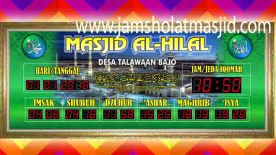 penjual jam jadwal sholat digital masjid running text di cibitung timur