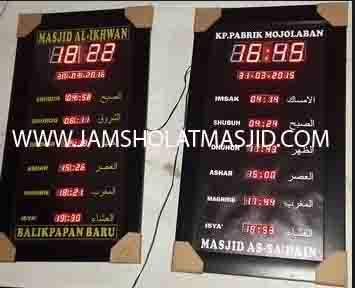 penjual jam jadwal sholat digital masjid running text di cikarang pusat