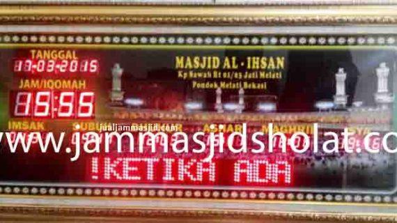 penjual jam jadwal sholat digital masjid running text di Harapan Jaya bekasi