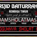 penjual jam jadwal sholat digital masjid running text di Jakamulya bekasi