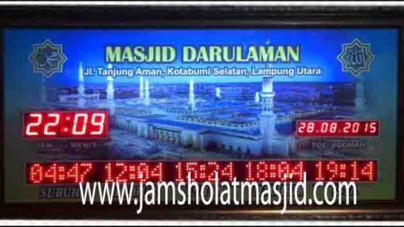 penjual jam jadwal sholat digital masjid running text di Marga Jaya bekasi