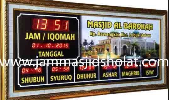 penjual jam jadwal sholat digital masjid running text di Jatirahayu bekasi