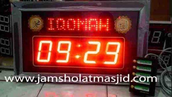 jam digital masjid area bekasi