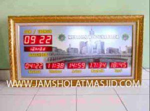 menjual jam jadwal sholat digital masjid running text di depok selatan