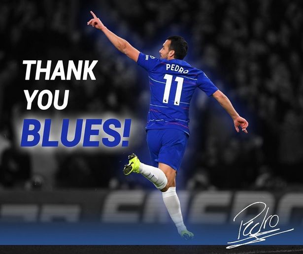 Pedro Says Goodbye To Chelsea