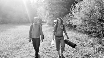 Johannes und Anika beim etwas weitern aber schlönen Zustieg ins das Hintere Paradistal