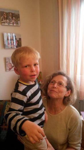 Jakob und Oma Petra