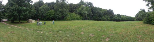 Nach dem Wochenende haben wir the Ith Zeltplatz für uns alleine