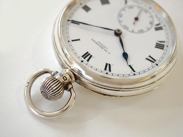 J.W.ベンソン 銀無垢 デニソンケース ポケットウォッチ 懐中時計