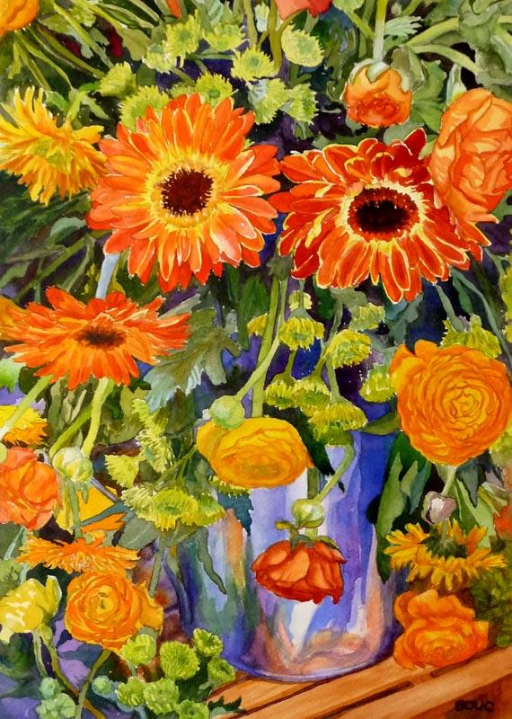 """""""Sunny Serenade"""", watercolor, 15.5""""x10.5"""""""