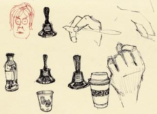 Meeting Stuff, sketches in pocket Moleskine
