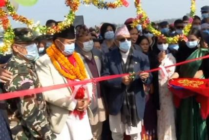 नेपालको दोस्रो लामो पक्की पुल, प्रधानमन्त्रीद्वारा उद्घाटन