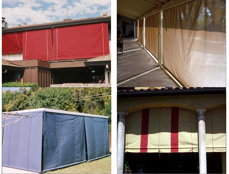 Drapes Amp Roll Down Drop Curtains JS Canvas Awnings Of Sacramento