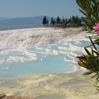 Sparkling White Terraced Hot Springs of Turkey