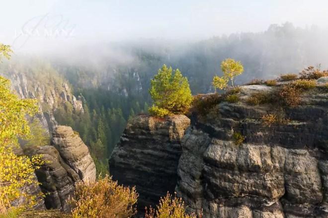 Fotoworkshop Landschaftsfotografie Elbsandsteingebirge Sachsen, Bastei im Sonnenaufgang