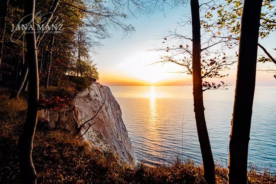 Deutschland, Herbst, Laubfärbung, Mecklenburg Vorpommern, Nationalpark Jasmund, Ostsee, Rügen, Sonnenaufgang, Wissower Klinken