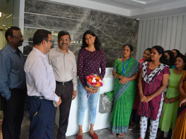 Sahana Kumari visits Janani Office