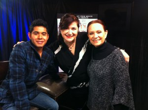 Kristyan Ferrer, Adriana Barraza and Myself after the interview