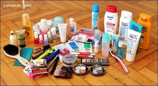 Es ist gar nicht so viel, wie es aussieht! Am Ende habe ich für alle meine Sachen nur einen kleinen Koffer plus die Handtasche benötigt.