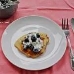 Recipe: Blueberry basil pancakes
