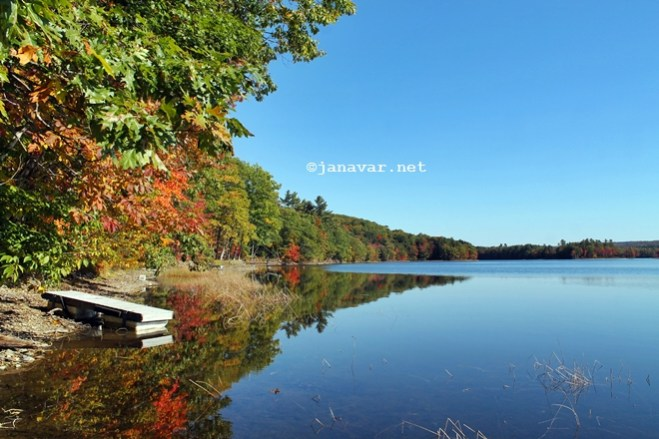 Travel: Branch Pond, Maine in fall