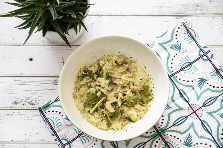 janavar - Seasonal Eats Better: Kohlrabi Leaf Mushroom Risotto