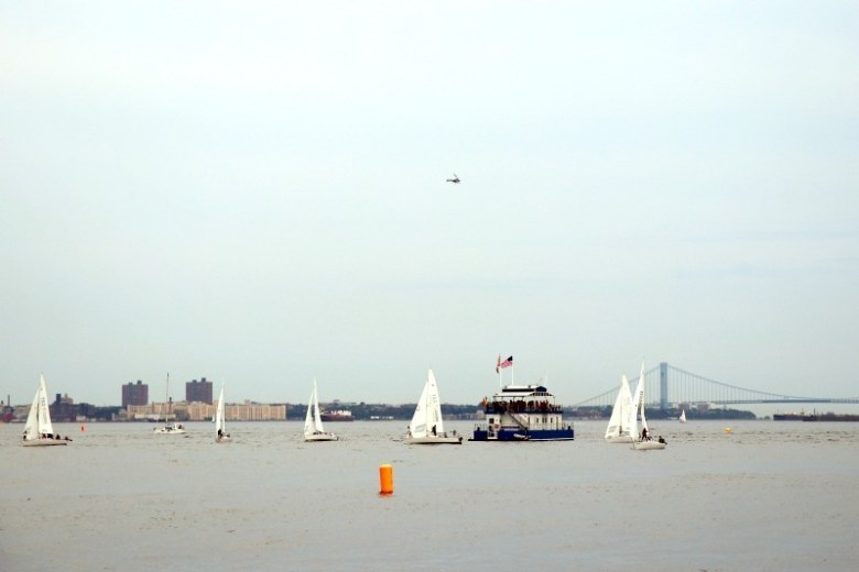 Sailing on Hudson River seen from Liberty State Park - Quick Trip to Jersey City | janavar