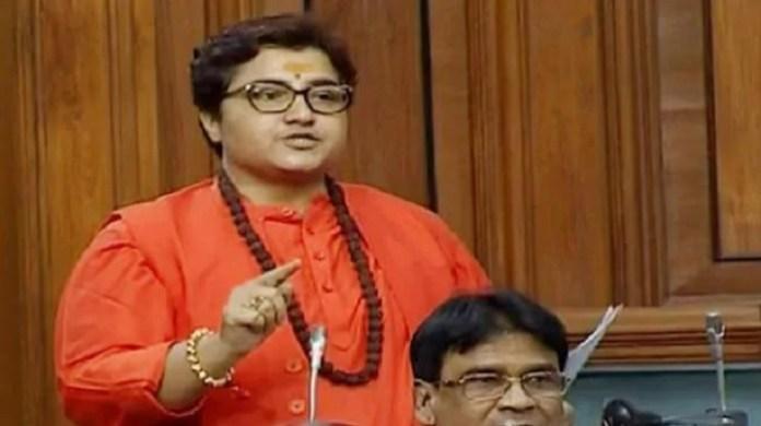 संसद में प्रज्ञा ठाकुर।
