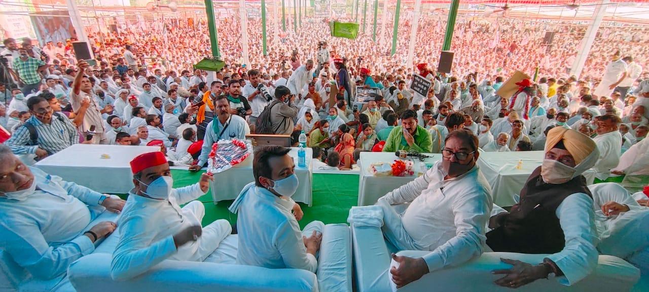 अब मथुरा में उमड़ा किसानों का सैलाब, जयंत ने लिया लखनऊ से लेकर दिल्ली तक संघर्ष का संकल्प