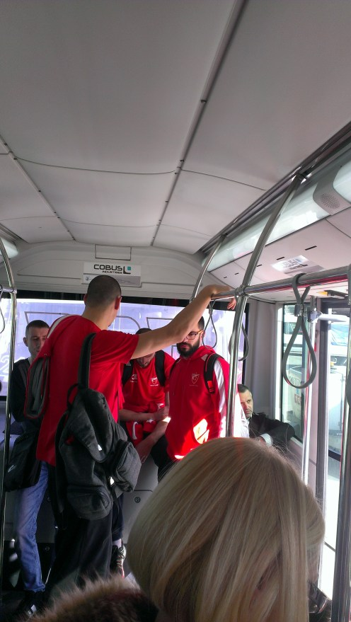 Red Star Belgrade basketball players