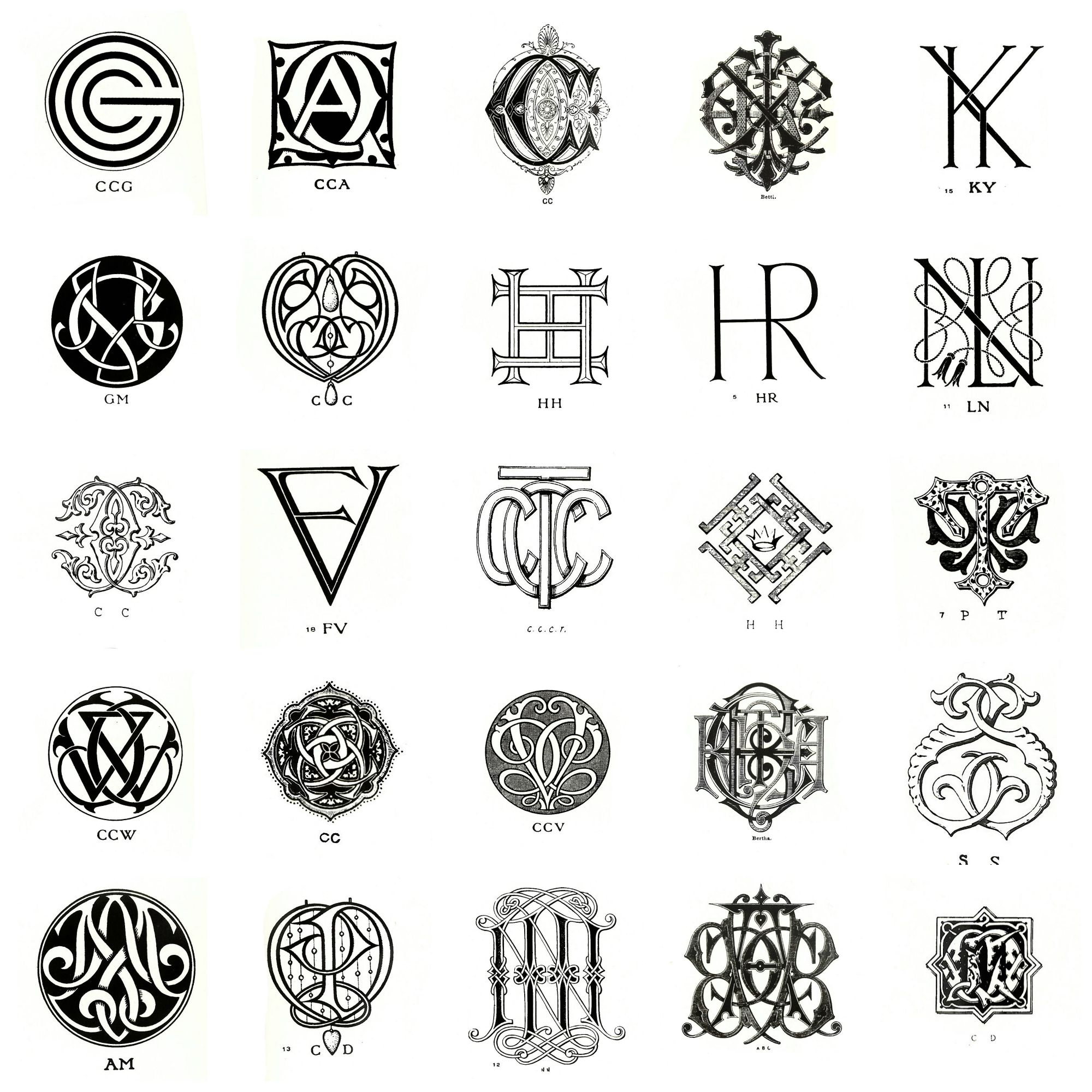 Antique Monogram Embroidery