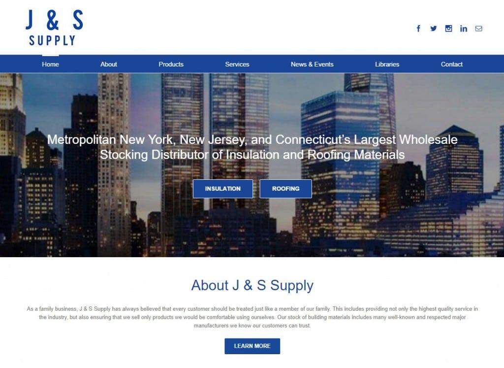 J & S Website Screenshot
