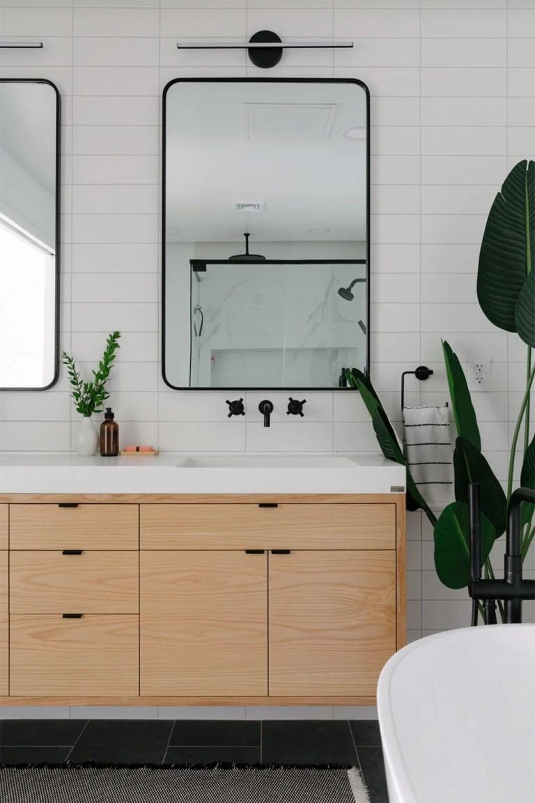 Beautiful modern bathroom design - domino mag