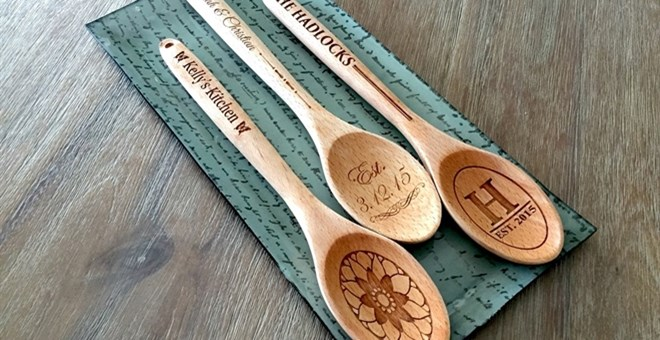Personalized Decorative Wooden Spoons Jane