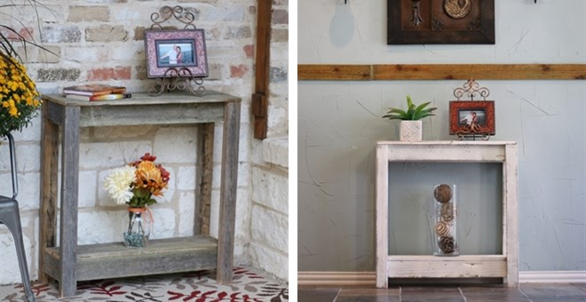 Rustic Console Table | 5 Colors!