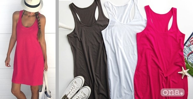 Vacation Racerback Tank Dress | 4 Colors