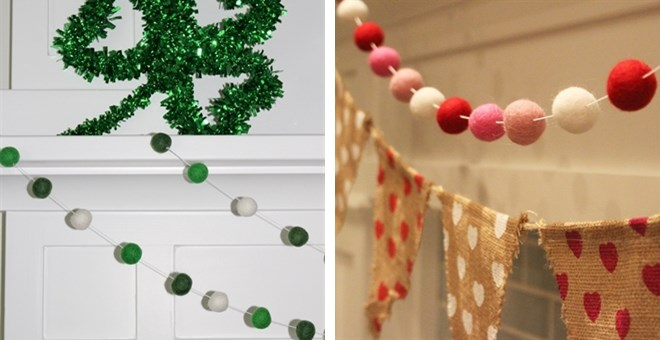Felt Ball Garland | 16 Choices!