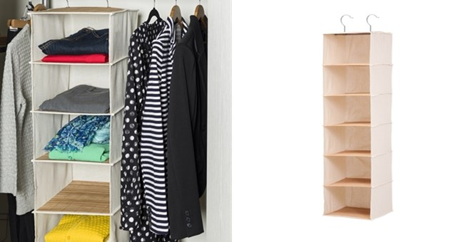 6-Shelf Bamboo Sweater Organizer | Free Shipping