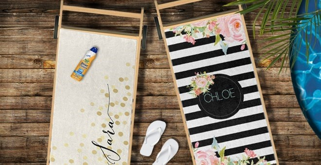 Personalized Beach Towels | 19 Designs