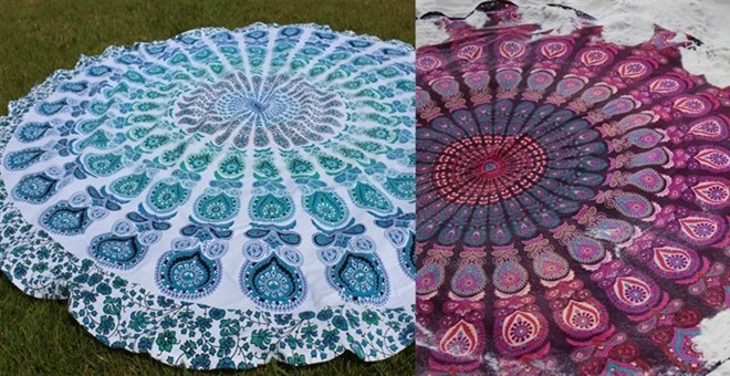 Boho Round Beach Throw | 7 Patterns