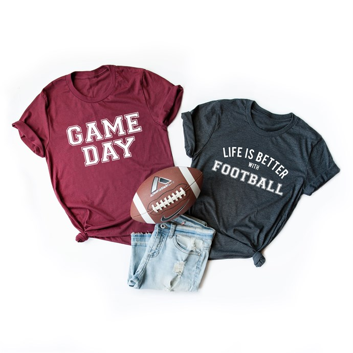 Football Graphic Tees / Free Shipping